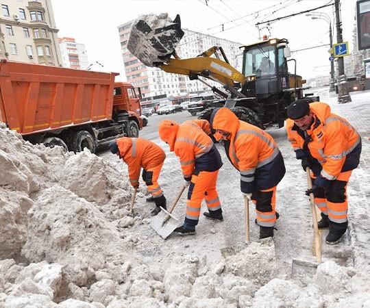 Уборка снега в Саранске и Республике Мордовия